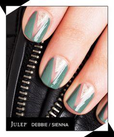 The Two-Tone Triangle Manicure