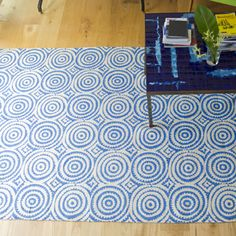 Corales Cobalt Rug | Designers Guild UK