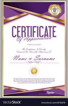 Certificate Of Recognition Template, Certificate Layout, Certificate Of Participation Template, Certificate Design Template, Certificate Frames, Graphic Design Layouts, Retro Design, Page Borders Design, Dental Logo
