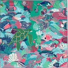 07bc3fbe3c23 Carré 90 Hermès   Under The Waves by Alice Shirley Printemps-Été 2016 Scarf  Design