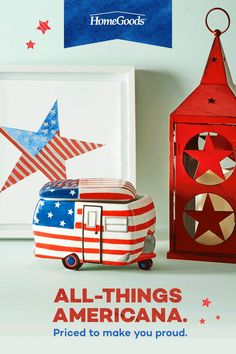 Save on new ideas for Independence Day at HomeGoods. Whether it's patriotic party decor, favorite lawn games, or barbecue essentials, there's no better place to look for amazing finds and inspiration for your 4th of July. Head to your nearest store today and start saving. Diy Crafts For Home Decor, Diy Arts And Crafts, Diy Crafts For Kids, Christmas Card Crafts, Holiday Crafts, Paper Crafts Origami, Oragami, Lawn Games, 4th Of July Decorations