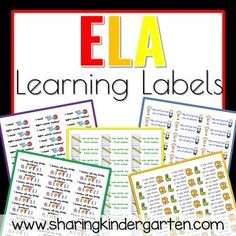 ELA learning labels