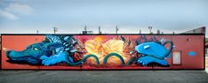 """Nosego's Colorful New Mural """"Little Moment"""" in San Jose, CA 
