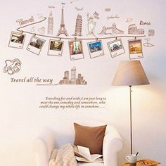 Decor Global Travel DIY Sticker Removable Bed Room Art Mural Vinyl Wall Sticker