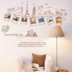 Decor Global Travel DIY Sticker Removable Bed Room Art Mural Vinyl Wall Sticker
