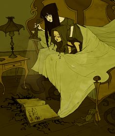 """Just a few hours left to help support """"Am Mythos Grimmly"""" - a Lovecraftian fairytale book! A Mythos Grimmly Art Journal Inspiration, Character Inspiration, Character Art, Character Design, Story Inspiration, Abigail Larson, Art Magique, Gothic Art, Horror Art"""
