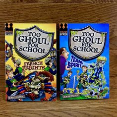 2 Too Ghoul For School Books Team Spirit & French Frights VGC reading B strange Ghoul School, Spirit, French, Reading, Amp, Books, Kids, Ebay, Young Children