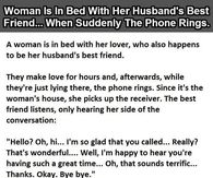 Woman Is In Bed With Her Husband's Best Friend When Suddenly The Phone Rings