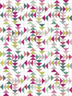 """I was asked if I'd like to participate in the Benartex online magazine """"Modern By The Yard' in a feature called 'Modern With A Twist'. Scrappy Quilt Patterns, Scrappy Quilts, Mini Quilts, Nancy Zieman, Quilt Kits, Quilt Blocks, Quilting Projects, Quilting Designs, Half Square Triangle Quilts Pattern"""