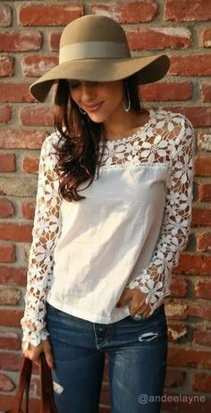 Cut Out Crochet Top