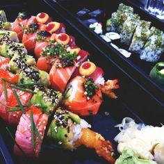Eat sushi in Japan.