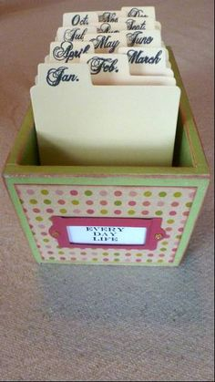Daily Calendar Journal in a box by GatherUpandCreate on Etsy, $28.00