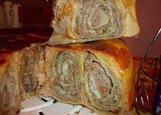 Фото к рецепту: Пирог Лаваш в заливке.