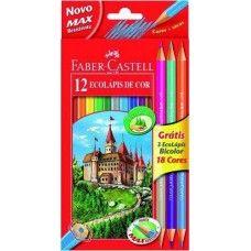 12 + 3 darabos Faber Castell EcoPencil színes ceruza készlet - Ajándék hegyezővel és 3 db kétvégű színes ceruzával Ft Ár 1,289