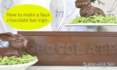 faux chocolate sign