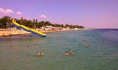 Пляж в Евпатории. 15 августа 2014 г.