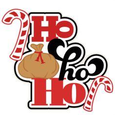Ho Ho Ho SVG scrapbook title shapes christmas cut outs for cricut cute svg cut files free svgs cute svg cuts