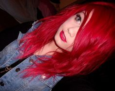 I miss my bright red hair :(