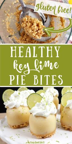 These Key Lime Pie Bites are a healthy dessert recipe using egg bite molds or a muffin tin. Make key lime pie bites in the Instant Pot or oven. Weight Watchers Key Lime Pie Recipe, Keylime Pie Recipe, 21 Day Fix Desserts, Key Lime Desserts, Mini Desserts, Lime Recipes Healthy, Healthy Dessert Recipes, Healthy Desserts