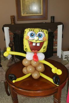 Spongebob balloon. Www.bogeysbouncers.com