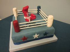 Boxing Ring 40th Birthday Cake cakepins.com