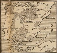 Contemporary maps of Spain during the Spanish Civil War Map Of Spain, French Magazine, Guernica, Basque Country, North Africa, Civilization, Spanish, War, Oviedo