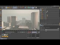 Cinema 4D -How to create a whole city in 5min?, NO PLUGINS!, NO MODELING! [HD] - YouTube