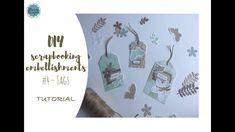 DIY Scrapbooking Embellishments #4 - tags - targhette - TUTORIAL