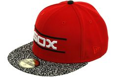 New Era 2Tone Chicago White Sox 1986 Fitted Hat - Red, Gray, Black, White