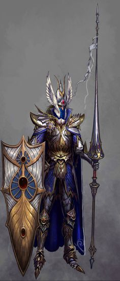 Everything about this guy is awesome, from the lance, to the armor, and the shield. The winged helmet is especially cool.