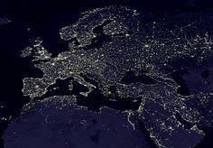 españa y canarias vistas desde el espacio   La contaminación lumínica ya impide al 99% de los europeos ver la ...