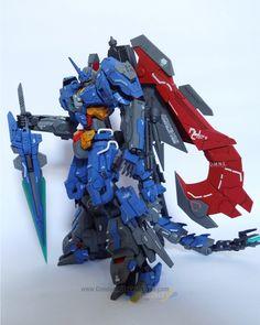 MODELER: Arek Gundam Surabaya MODEL TITLE: MG Dark AGE MODIFICATION TYPE:  kit bash, custom details, scratch built parts, custom color s...