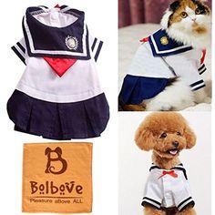 Bro'Bear Pet Navy Uniform Cats  #ApparelAccessories