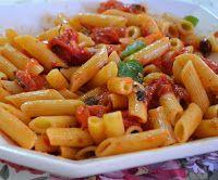 Cantinho Vegetariano: Penne com Tomates Confit (vegana)
