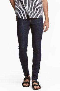 Skinny Low Jeans - Donker denimblauw - HEREN | H&M NL 1