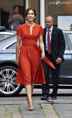 La princesse Mary de Danemark lors de la remise des prix Saint Loye le 24 août 2012 à Copenhague.