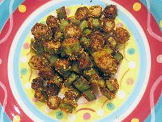 Oven Fried Okra | meljoulwan.com