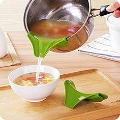 SwirlColor Küchenhelfer Silikon Ausgusstülle Mess freies Ausgießen Flüssigkeit Suppe Öl aus Schüsseln Pfannen Töpfe