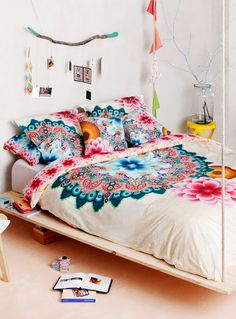 Boho bedding | Desigual Mandala Duvet Cover at Simons Maison. #bedroom #home #decor