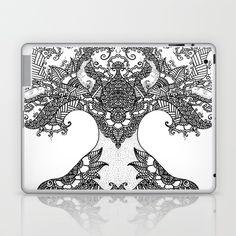 Laptop & iPad Skin Unity of Halves - Life Tree - Rebirth - White by GrandTartaria  #zen #Lifetree  #Meditation #Halves #oriental  #Yoga #Indian #Rebirth #BlackWhite #Paisleydrawing #society6 #magictree #artprint #zentangle #GrandTartaria #iPadSkin #Laptop  https://society6.com/product/unity-of-halves-life-tree-rebirth-white_laptop-skin