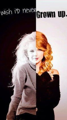No one's ever burned you Nothing's ever left you scarred And even though you want to Just try to never GROW UP...