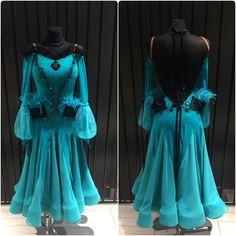 "Unbelievable elegant and ""fun"" ballroom dress #ballroom #ballroomdress #wdsf #ballroomdress #dlkuniteddesign"