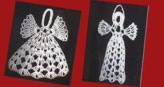 Herkät enkelit sopivat tärkättyinä koristeeksi kuuseen ja ikkunoille.