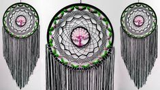 Dream Catcher Tutorial, Wall Hanging Crafts, Dream Catchers, Pearl Beads, Diy Room Decor, Pearls, Paracord, Knot, Globe