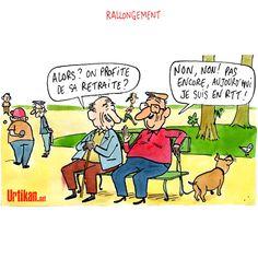 Le rapport Moreau prône dallonger la durée de cotisation retraite - Dessin du jour - Urtikan.net