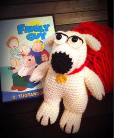 Elina virkkaa-Elina's crochet: Crochet Brian Griffin dog from Family Guy- Brian koira Family Guy sarjasta virkattuna