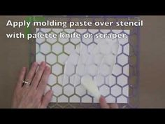 Gelli Monoprinting with Molding Paste Texture Plates! Create your own unique texture plates for Gelli printing with molding paste! Watch this video and see how easy it is!