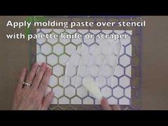 Gelli Monoprinting with Molding Paste Texture Plates!
