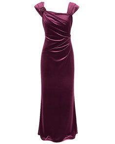 SHIRAZ STRETCH VELOUR DRAPE GOWN - Style Number: IC98477