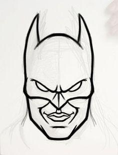 Batman Head Outline For